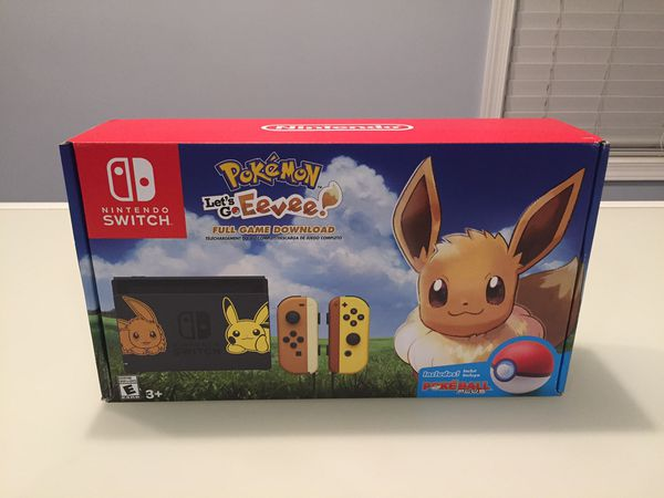 Nintendo Switch Console Bundle Pikachu And Eevee Edition With