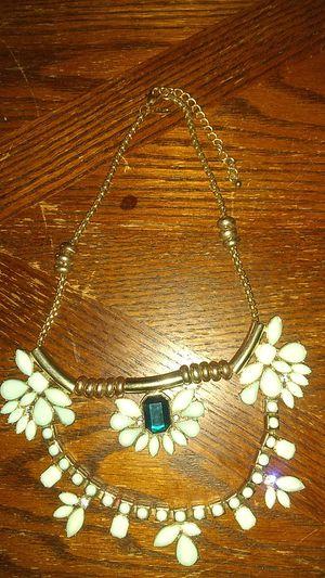 Photo Turquoise imitation costume jewelry necklace.