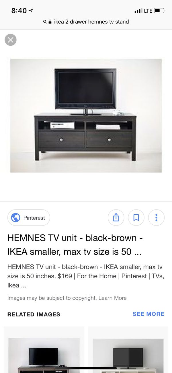 Ikea Hemnes Black Brown Tv Stand For Sale In Puyallup Wa Offerup