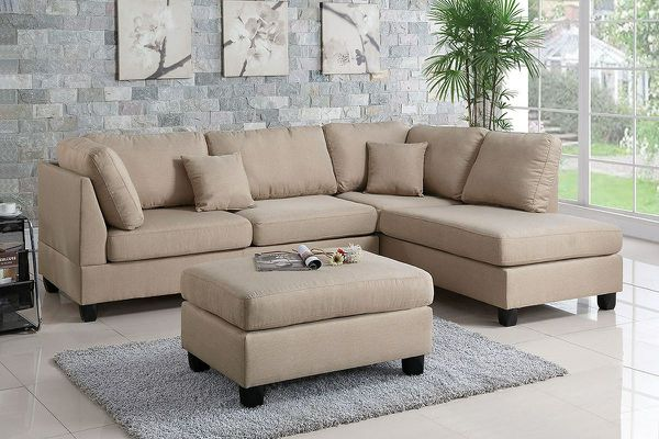 Sand Reversible Chaise Couch Sofa