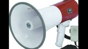 MEGAPHONE BULLHORN BRAND NEW BATTERIES NOT INCLUDED for Sale in Covina, CA