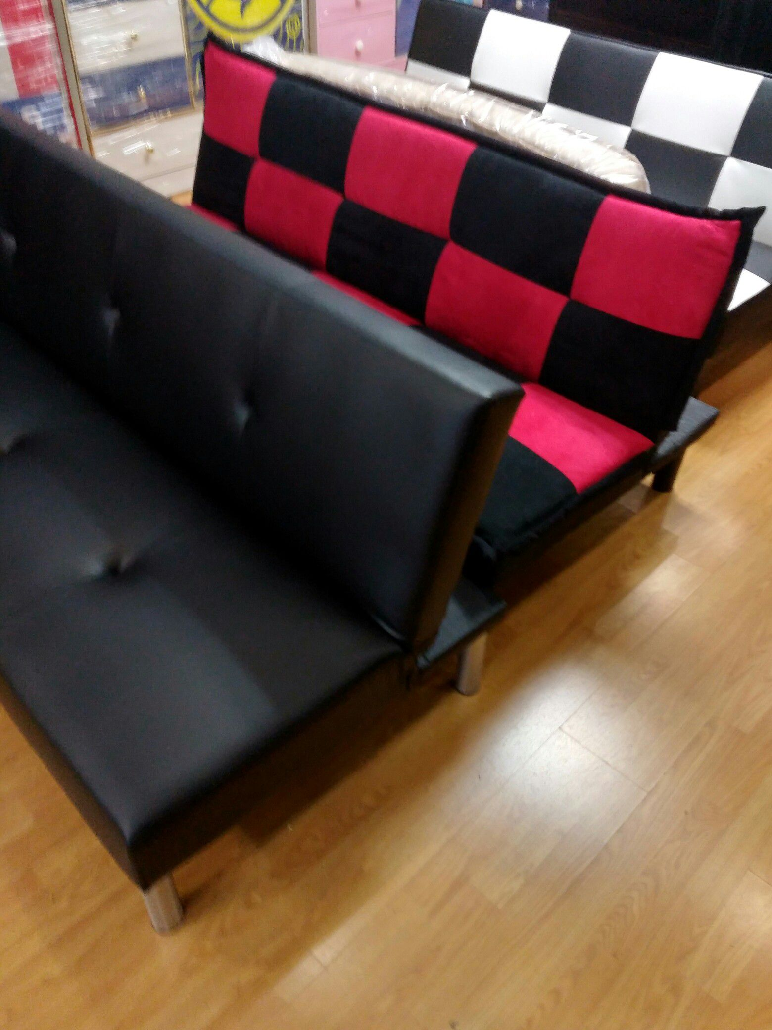 Beautiful different colored futon bed /sofa