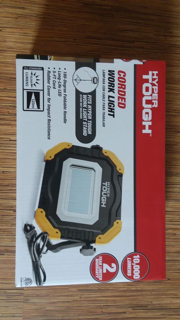 Brand New Hyper Tough Corded Work Light 10 000 Lumens For