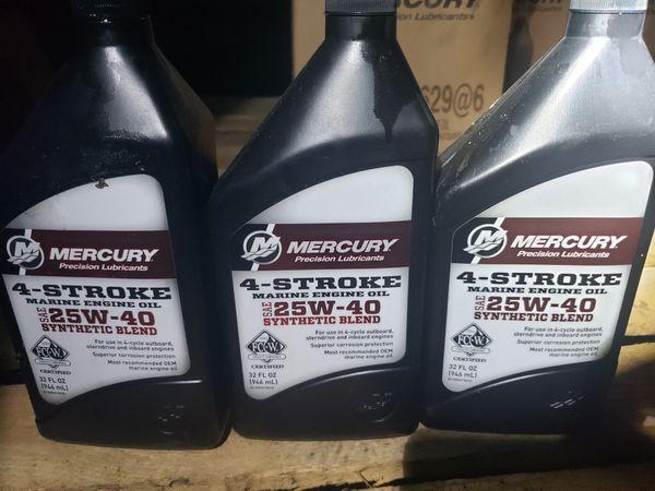 Mercury 4 stroke 25w-40 Oil for Sale in Pompano Beach, FL - OfferUp