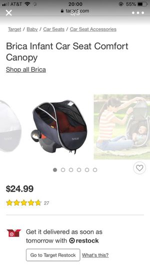 Brica Infant Car Seat Comfort Canopy For Sale In Wood Dale IL