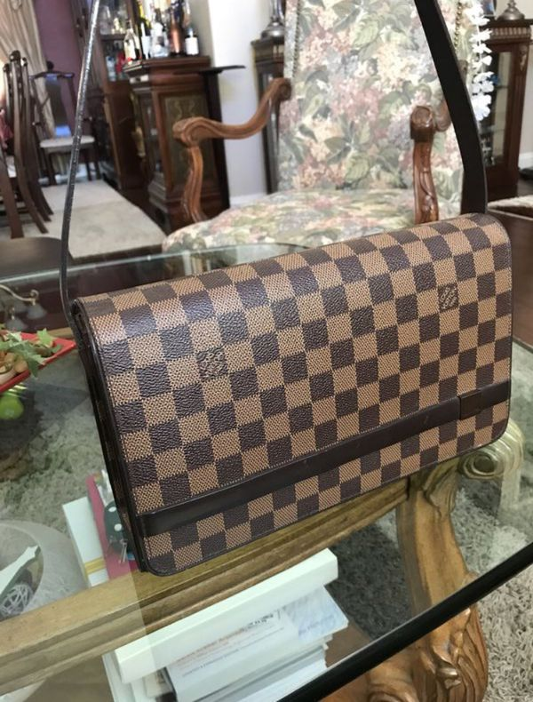 99920f5b28ed Louis Vuitton Tribeca Damier Ebene Long Hand Checkered Brown Leather    Canvas Shoulder Bag for Sale in San Jose