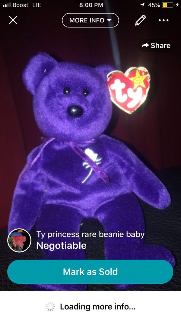 princess diana beanie baby