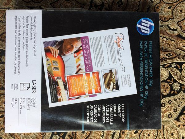 HP presentation paper 130g glossy for Sale in Akron, OH