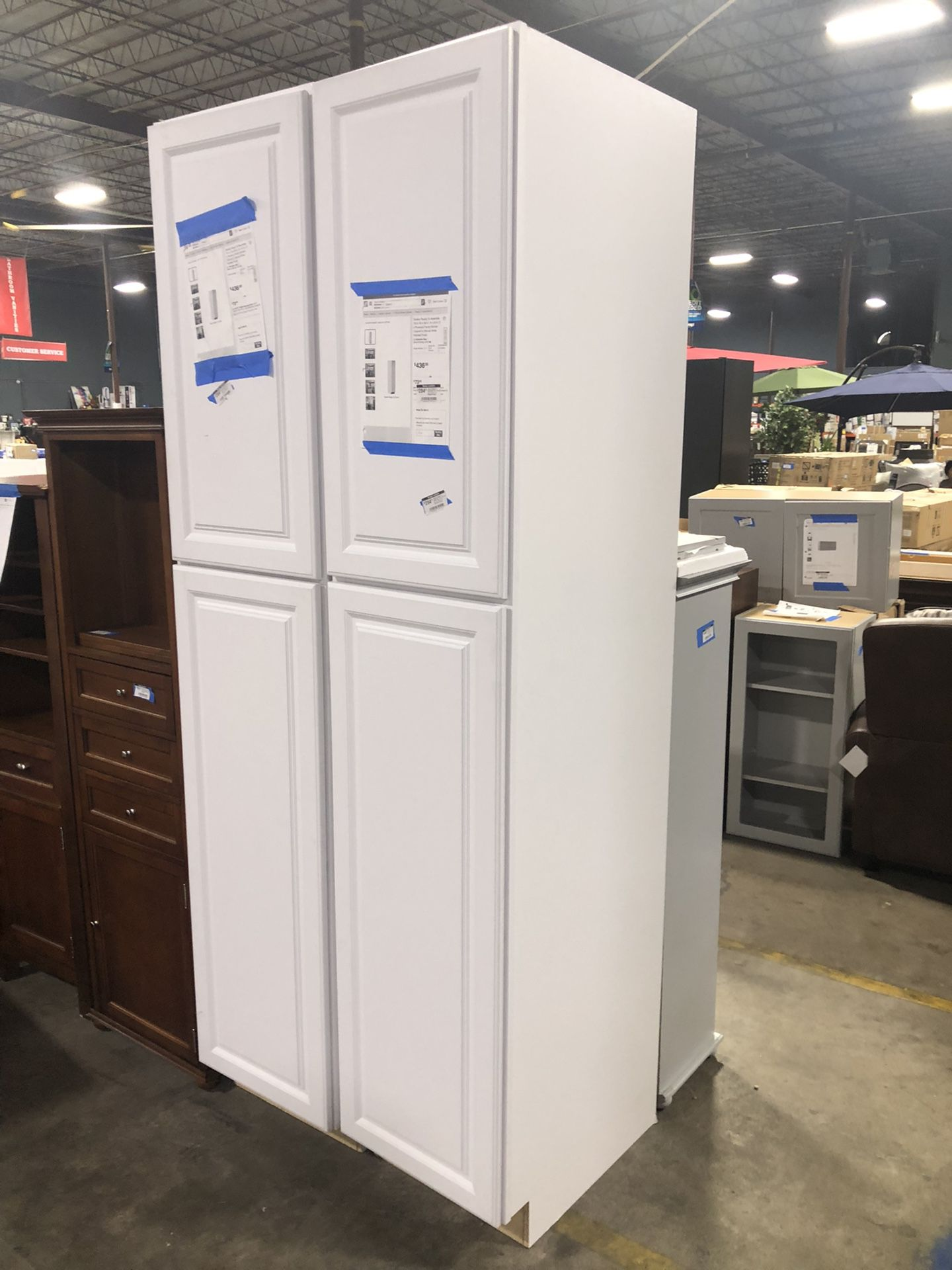 😍Shaker Ready To Assemble 18in. W x 90in. H x 24in. D Plywood Pantry Kitchen Cabinet😍