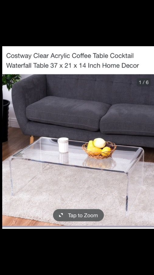 Clear Acrylic Coffee Table For Sale In Westbury NY OfferUp - Clear acrylic cocktail table