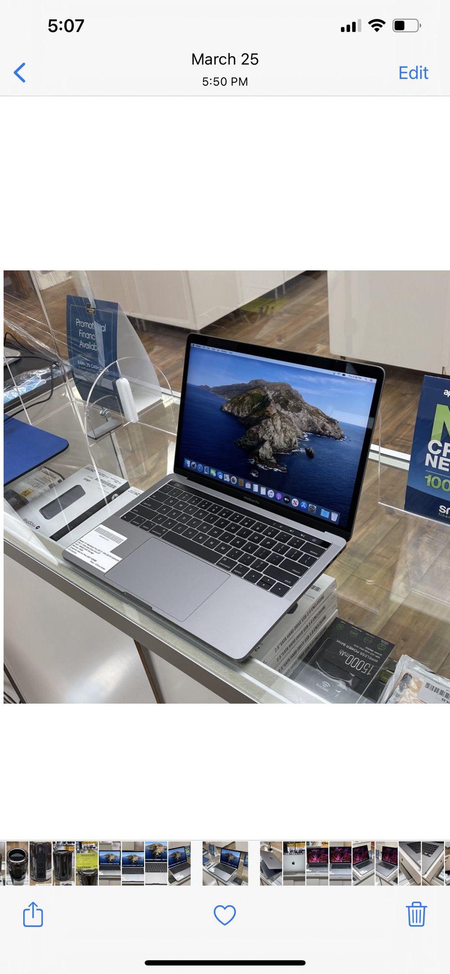 """13"""" Macbook pro Touchbar- 3.1Ghz Intel Core i5- 500GB SSD- 16GB RAM"""