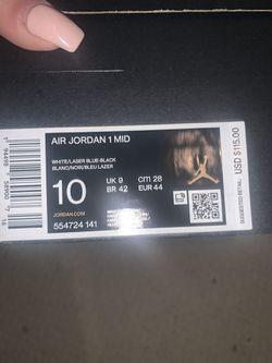 Jordan 1 Mid Blue Laser Thumbnail