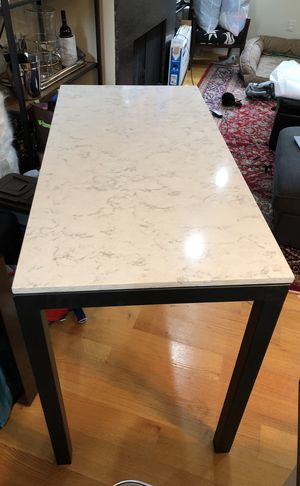 Room & Board Parsons Counter Table with Marbled Quartz Top for Sale in Washington, DC