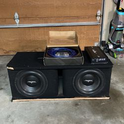 """Two Skar Audio 12"""" SDR Subwoofers w/ Untouched Wiring Kit Thumbnail"""