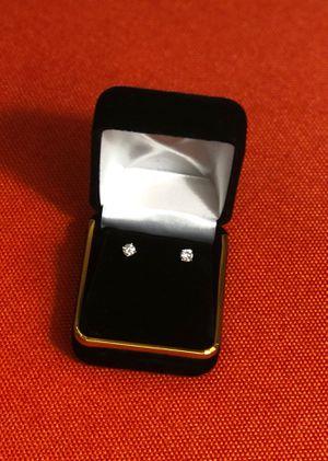 New 1/2 CTTW round diamond earrings set in 14K Yellow gold for Sale in Apopka, FL