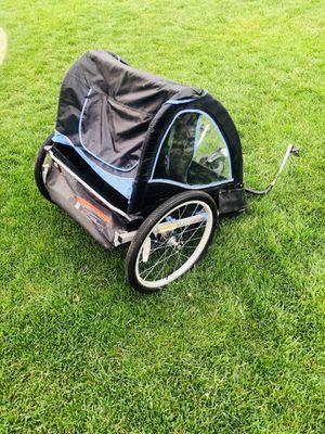 Photo Schwinn Double Baby Bike Trailer Stroller, Child Jogger with Swivel Wheel