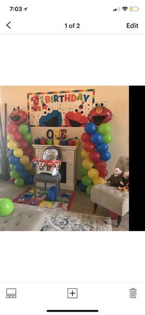 2 Elmo Birthday Balloons Columns Party Decorations For Sale In Chicago IL
