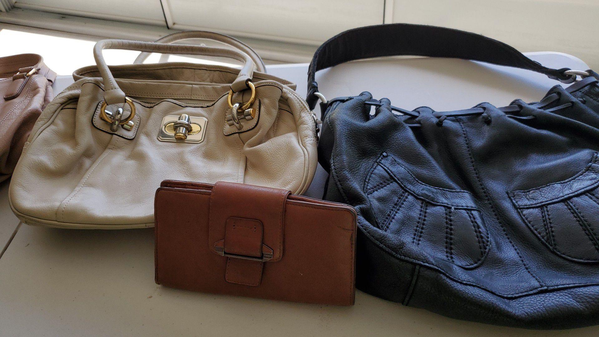 Leather handbags wallets,make offer
