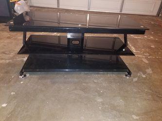 Black Glass TV Stand  Thumbnail