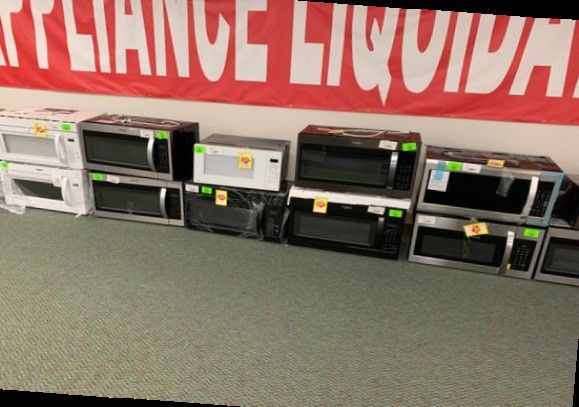 BRAND NEW OVERHEAD MICROWAVES WITH WARRANTY
