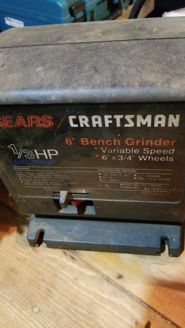 Peachy Sears Craftsman 6 Bench Grinder For Sale In Eugene Or Lamtechconsult Wood Chair Design Ideas Lamtechconsultcom