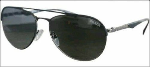 12bbefcfc8 Unisex Prada Minimal Concept SPR51Q Black Gunmetal Sunglasses for ...
