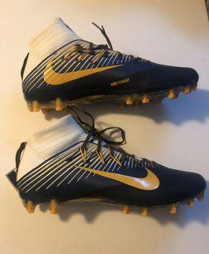 Photo Nike Vapor Untouchable 2 PF Football Cleats Navy Gold White Size 14.5