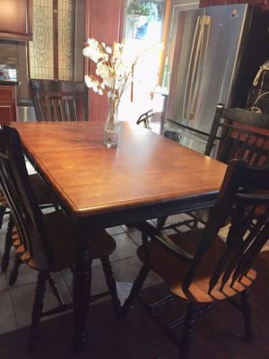 """Dinner table with 5 chairs 41""""x 60"""" for Sale in Stafford, VA"""