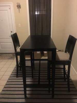 Crate and Barrel bar table with 2 chairs for Sale in Baltimore, MD