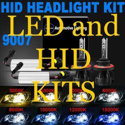 Led headlight bulbs - hid conversion kits lights - any ride toyota camry prius 2 chevy Silverado Malibu ford mustang impala tahoe any ride Thumbnail