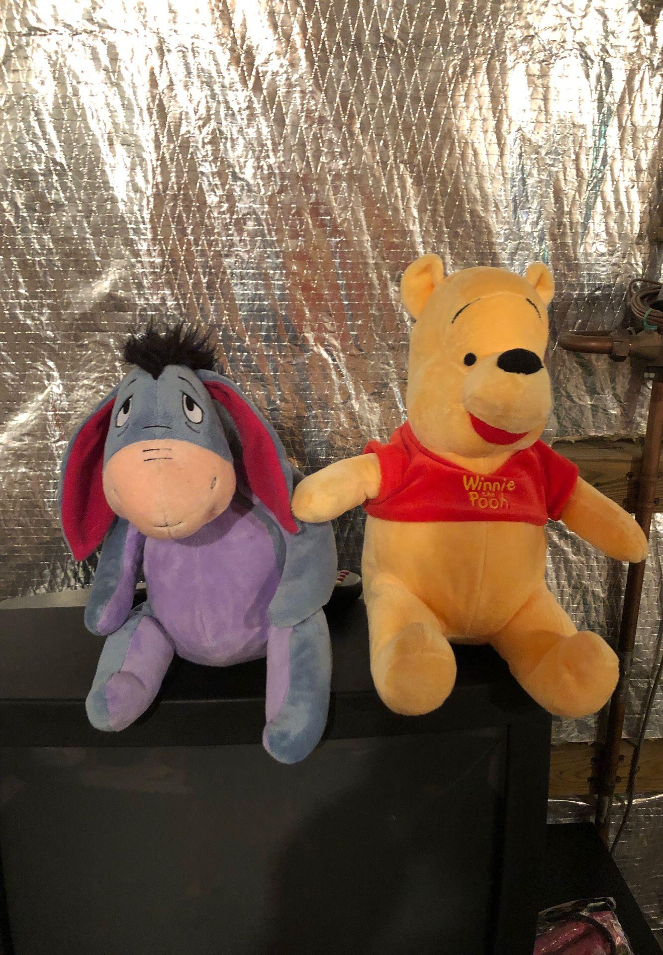 Pooh and eeyore plush dolls