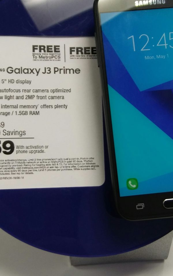 Samsung Galaxy j3 prime for Sale in Chicago, IL - OfferUp