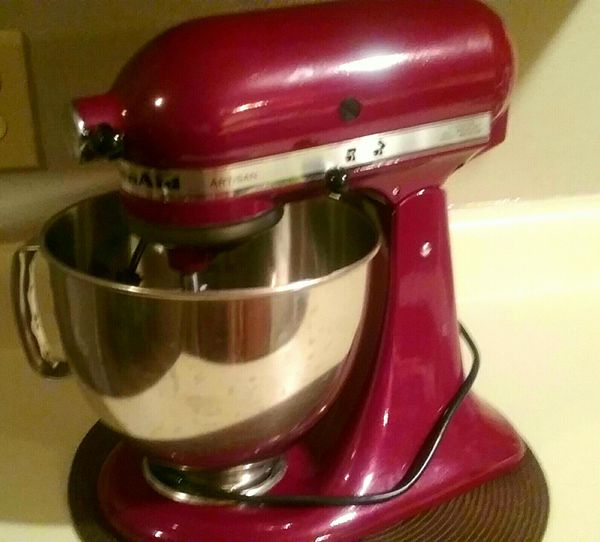 USED**Red KitchenAid Artisan Stand Mixer for Sale in ...
