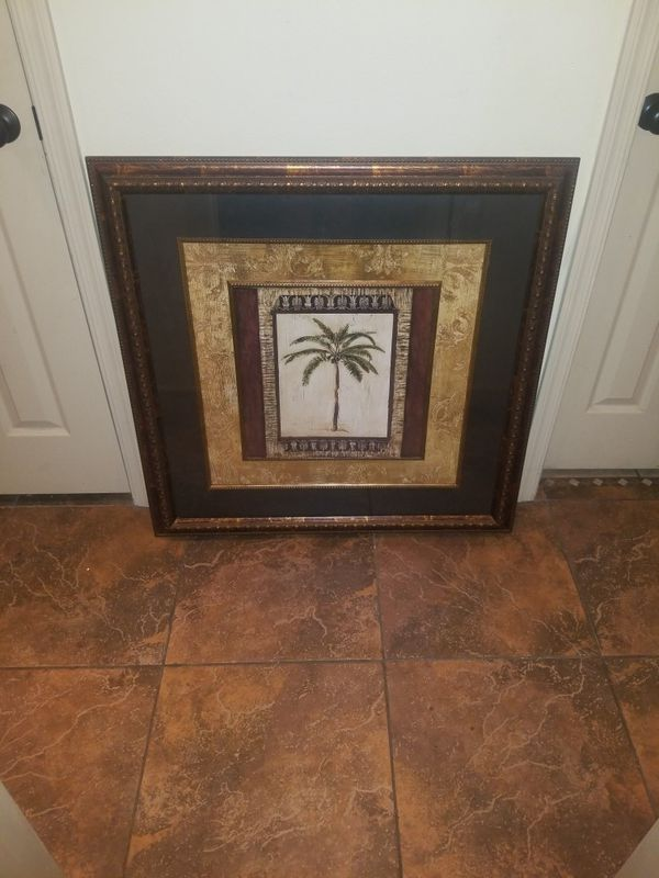 Kirkland home collection framed art island palm tree (Household) in ...