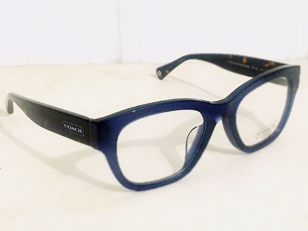 Dark Midnight Blue & Havana Square Eyeglass Frames (HC6044 5163 ...