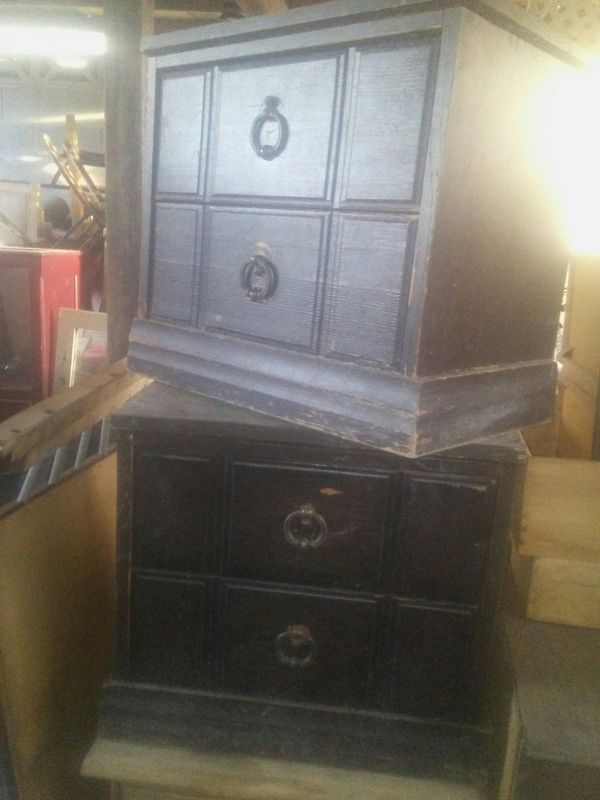 Two Wood Nightstands To Refinish 10 Las Vegas