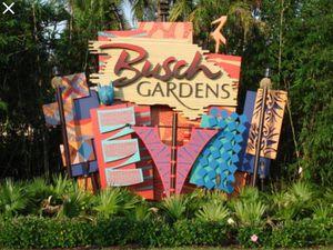 Busch garden tickets for Sale in Tampa, FL