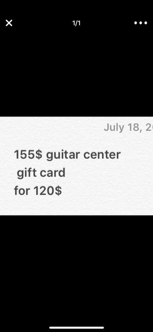 155 $ Guitar center card for Sale in Denver, CO