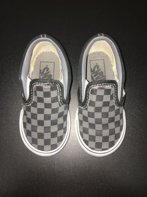 Vans Classic Slip On - Black Pewter Checkerboard for Sale in Oceanside 8786dd52f
