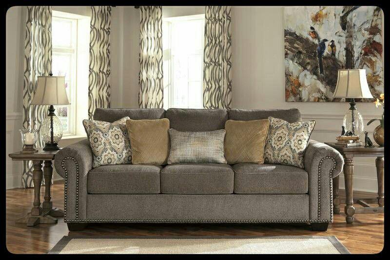✔Ashley🚩 Emelen Alloy Living Room Set