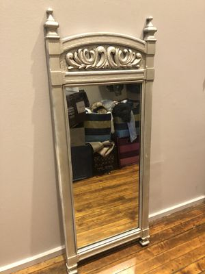 Solid Wood Silver Mirror for Sale in Cleveland, OH