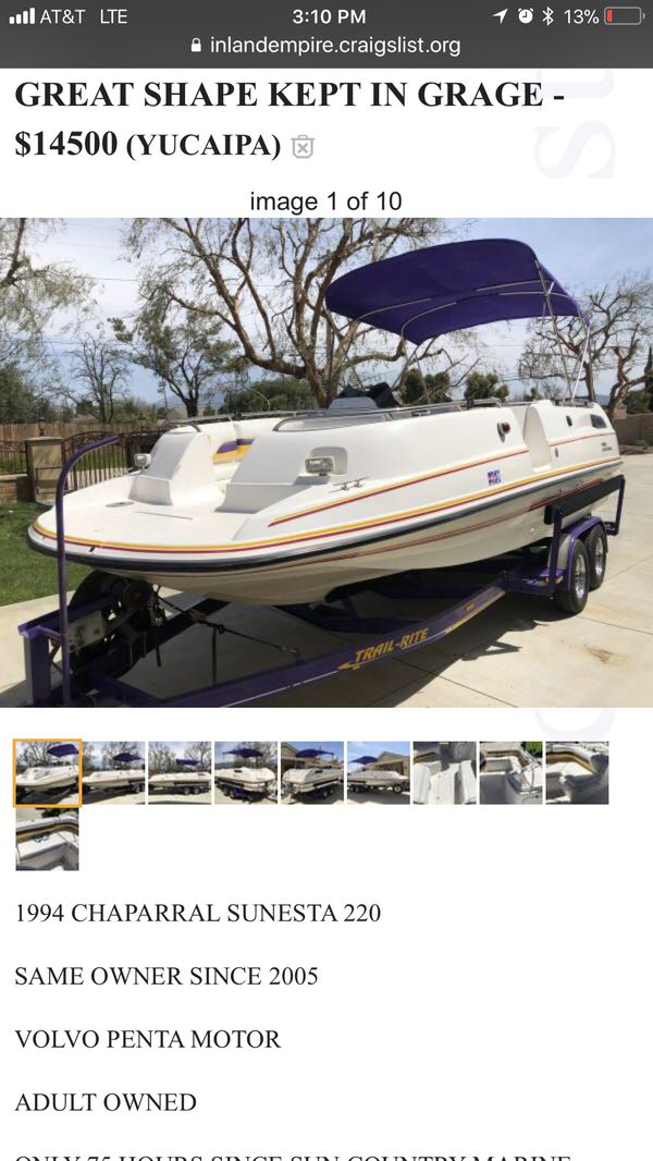 Boat for Sale in Riverside, CA - OfferUp