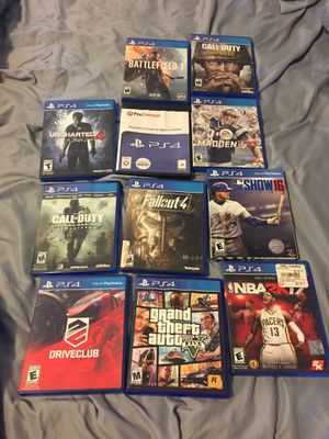 PS4 games need gone for Sale in San Gabriel, CA
