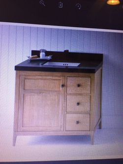 Grate wood vanity furniture new in case Thumbnail