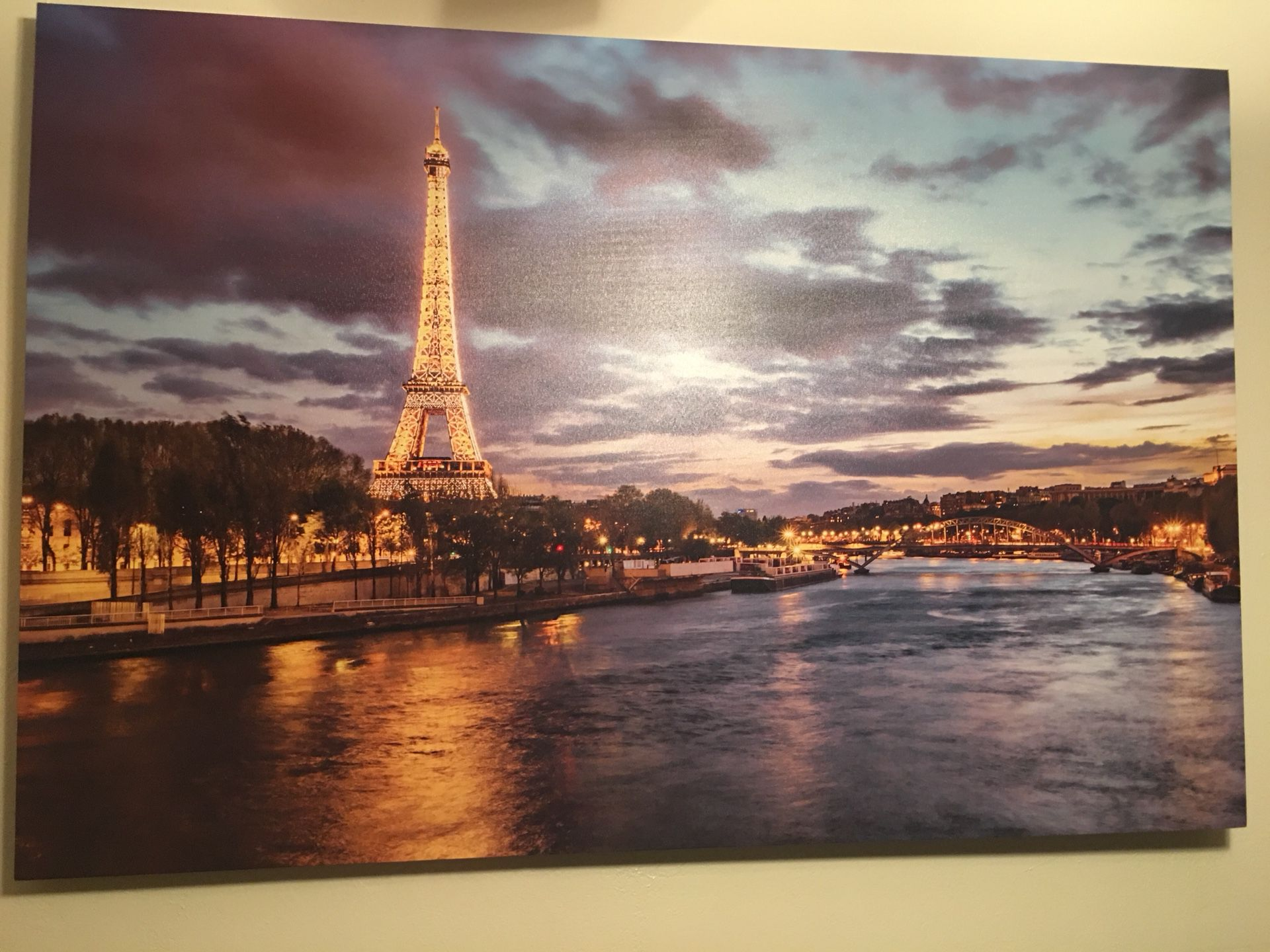 Large Paris Canvas Picture!!