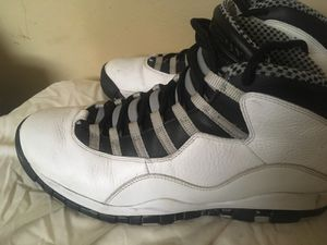 Retro white-and-black air jordan 10 s size 12 for Sale in Jacksonville 8661692b5