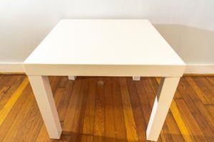 Photo White Ikea side table $5