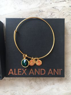 Alex and Ani birthstone bracelet, in original box and bag with bag Thumbnail