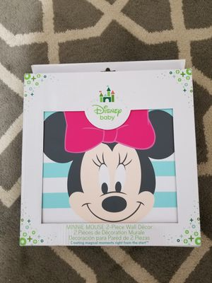 Minnie Mouse 2 piece wall decor for Sale in North Las Vegas, NV