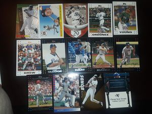 Collection of baseball cards 14 total cards multiple brands for Sale in Nahant, MA